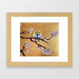 Cherry Blossom Chicks Framed Art Print