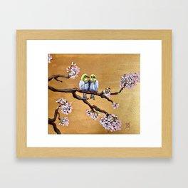 Cherry Blossom Chicks Framed Art Print