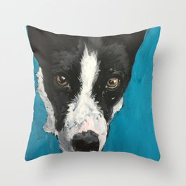 Enzo a Basenji Throw Pillow