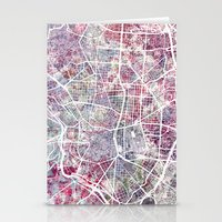 madrid Stationery Cards featuring Madrid map by MapMapMaps.Watercolors