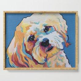Maltipoo, Cavapoo, Cavachon, Cockerpoo, Mix Breed Custom Pop Art Pet Portrait Serving Tray