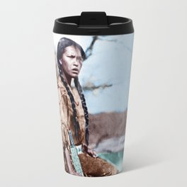 Native Girl Travel Mug