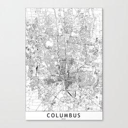 Columbus White Map Leinwanddruck