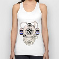 scuba Tank Tops featuring Scuba Kid by Paula Bridgewater