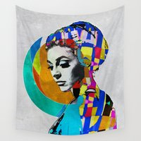 pop art Wall Tapestries featuring Pop by Steve W Schwartz Art