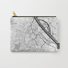 Vienna City Map Gray Carry-All Pouch