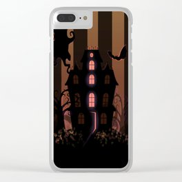 Be it ever so Haunted, there's no place like Home - Brown Clear iPhone Case