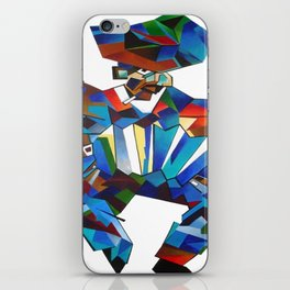 Accordion Player In Cubist Style iPhone Skin