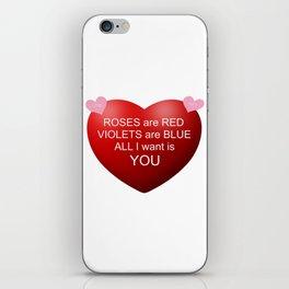 Happy Valentine iPhone Skin