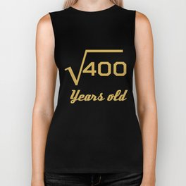 Square Root Of 400 Funny 20 Years Old 20th Birthday Biker Tank