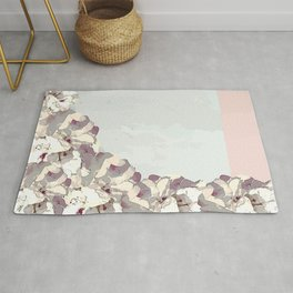 Orchid waterfall Rug