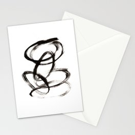 Minimal Abstract Ovals Stationery Cards