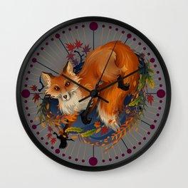 Sly Fox Spirit Animal Wall Clock