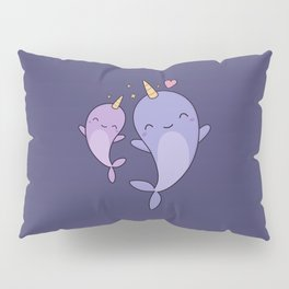 Cute and Kawaii Narwhals Pillow Sham