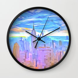 Manhattan Pop Art Wall Clock