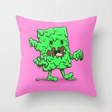 Slime Log Throw Pillow