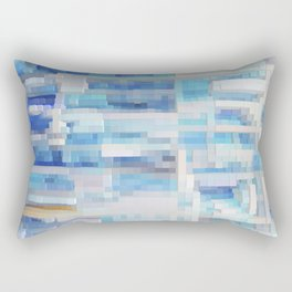 Abstract blue pattern 2 Rectangular Pillow