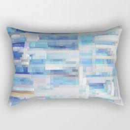 Abstract blue pattern 2 Rectangular Pillow
