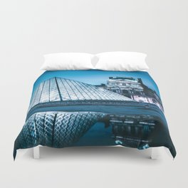 Louvre by night Duvet Cover