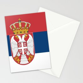 Flag of Sebia Stationery Cards