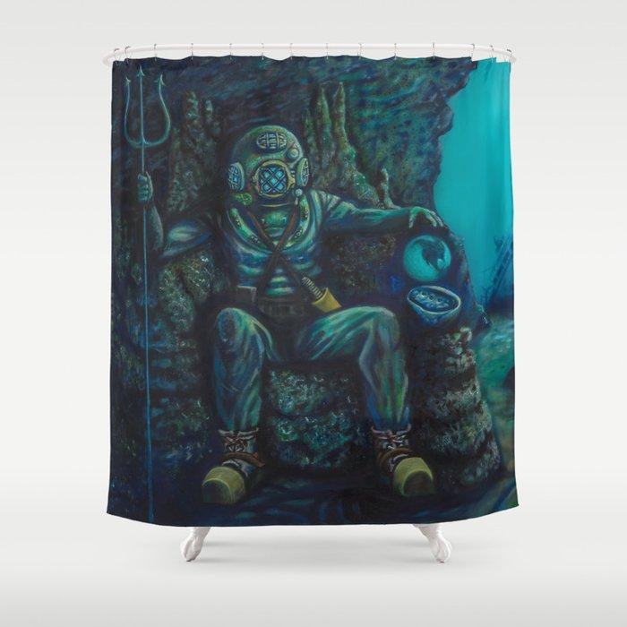 Deep Sea Throne Shower Curtain