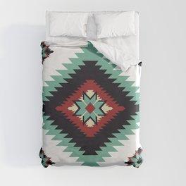Southwest Santa Fe Geometric Tribal Indian Pattern Duvet Cover
