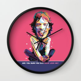 Move like Me Carricature WPAP Wall Clock