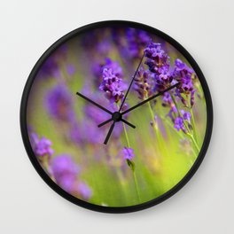 Textured background of lavender flowers Wall Clock