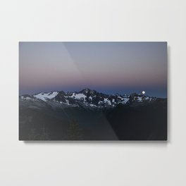 Full Moon over the North Cascade Mountains in the Pacific Northwest, Washington Metal Print