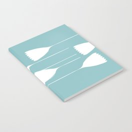 blue and white cutout Notebook