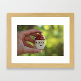 Family Time House Framed Art Print