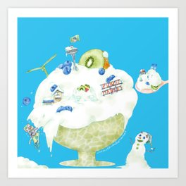 Seattle Freeze Art Print