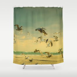 Flight Pattern Shower Curtain