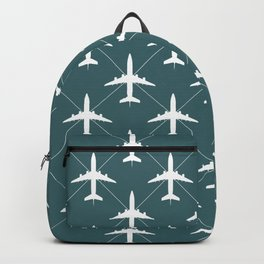 Sea Blue Airplanes Flying Pattern Backpack