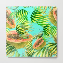 Fruits & Leafs Metal Print