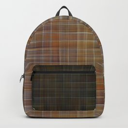 Patched plaid tiles pattern Backpack