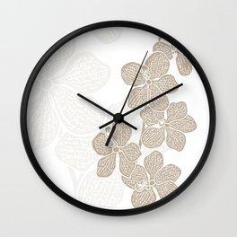 Orchidea Wall Clock
