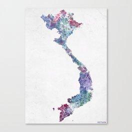 Vietnam map Canvas Print