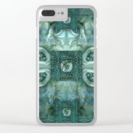 """""""Blue baroque astral fantasy"""" Clear iPhone Case"""