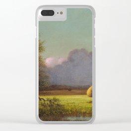 Martin Johnson Heade - Sunlight And Shadow The Newbury Marshesc Clear iPhone Case