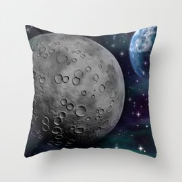 Moon and the Sky Throw Pillow