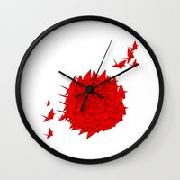 japan Wall Clocks featuring japan by Sophie Rousseau