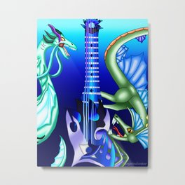 Fusion Keyblade Guitar #80 - Leviathan & Abyssal Tide Metal Print
