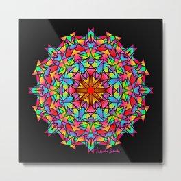 Psychedelic Porcupine Mandala Metal Print