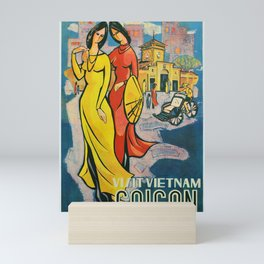 oude Visit Vietnam Mini Art Print