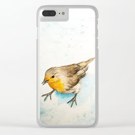A winter morning Clear iPhone Case