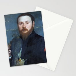 """Hans Holbein the Younger """"Portrait of a Nobleman with a Hawk"""" Stationery Cards"""