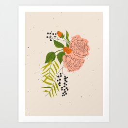 I Brought Flowers Art Print