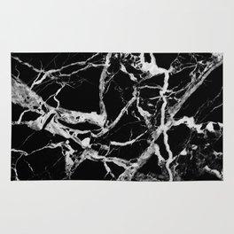 Black marble pattern Rug
