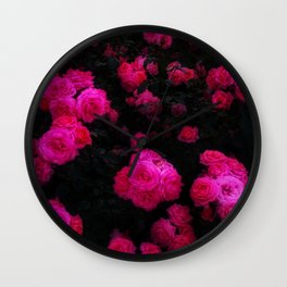 Bunches of Roses Wall Clock